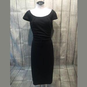 David Meister Dress sz 6 black knee length